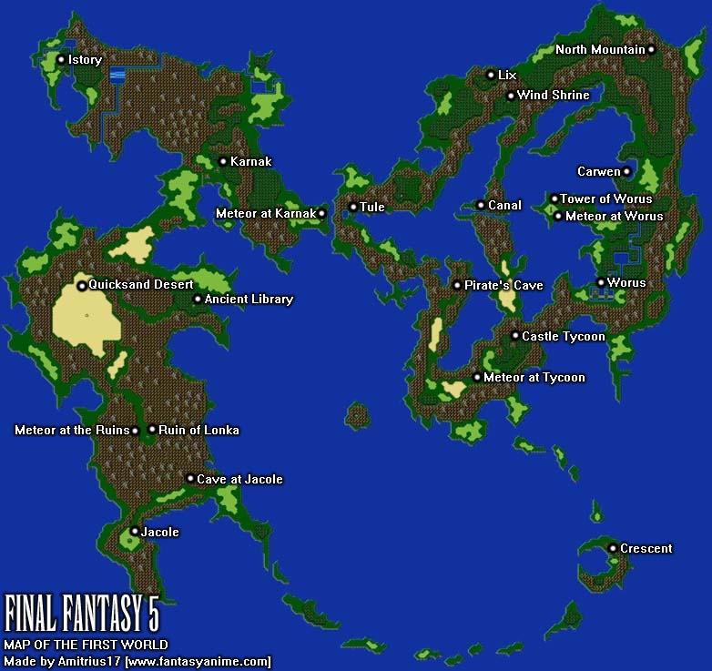 Final Fantasy 5 - World Maps