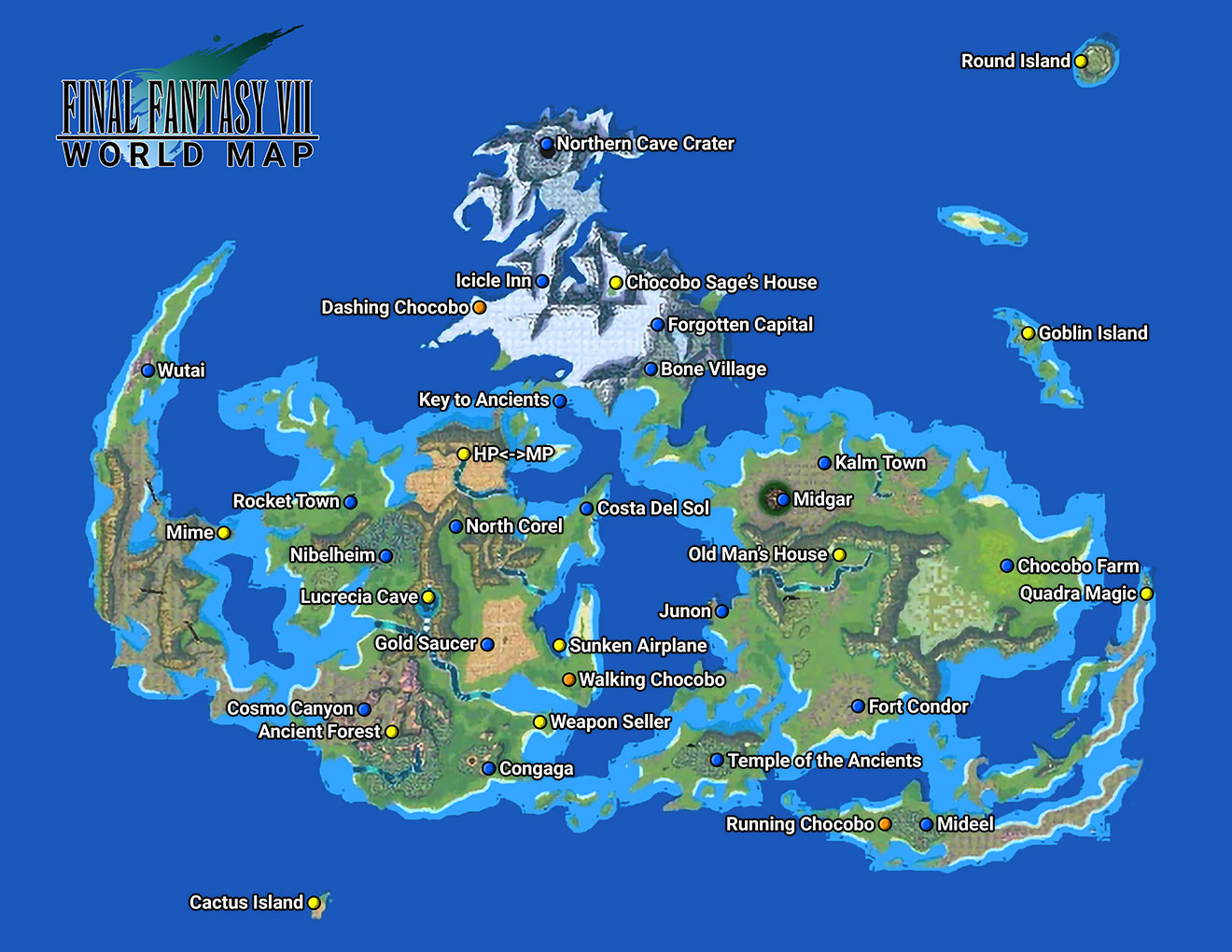 Final Fantasy VII - World Map