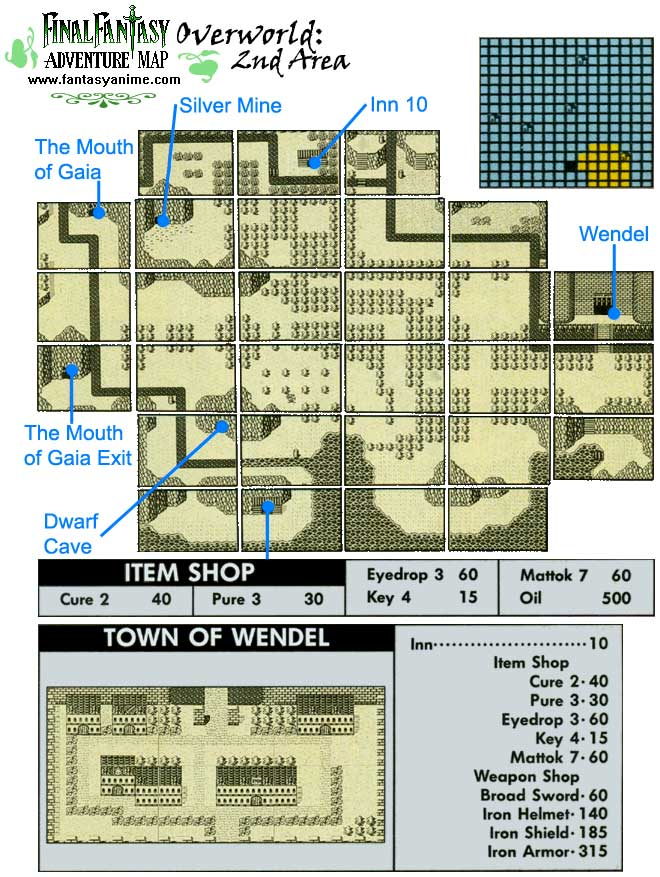 Final Fantasy Adventure Maps