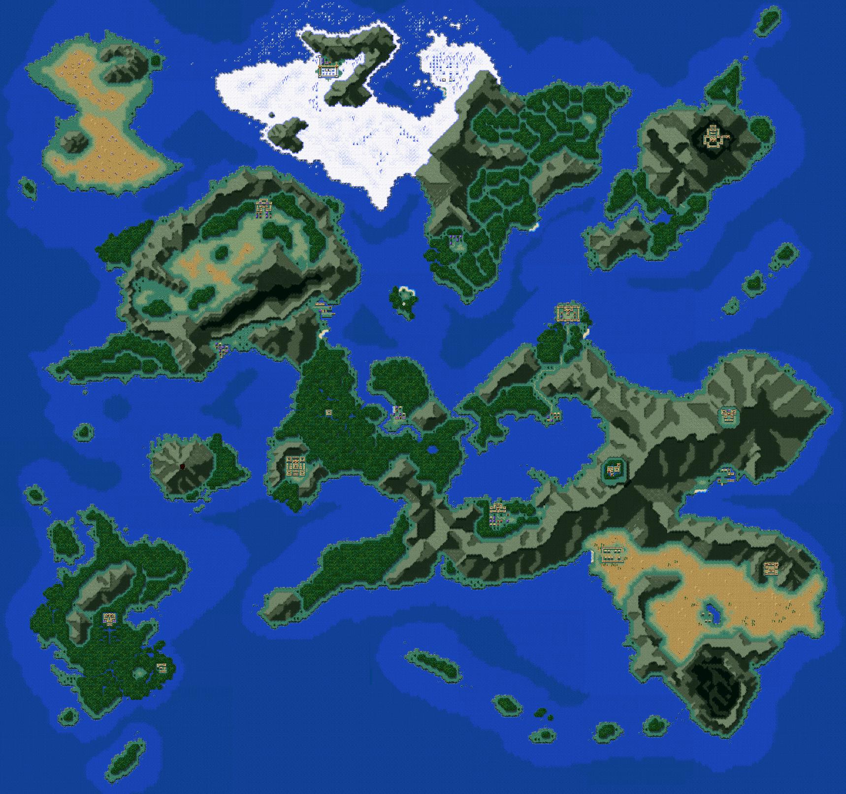 Seiken Densetsu 3/ Secret of Mana 2   World Map